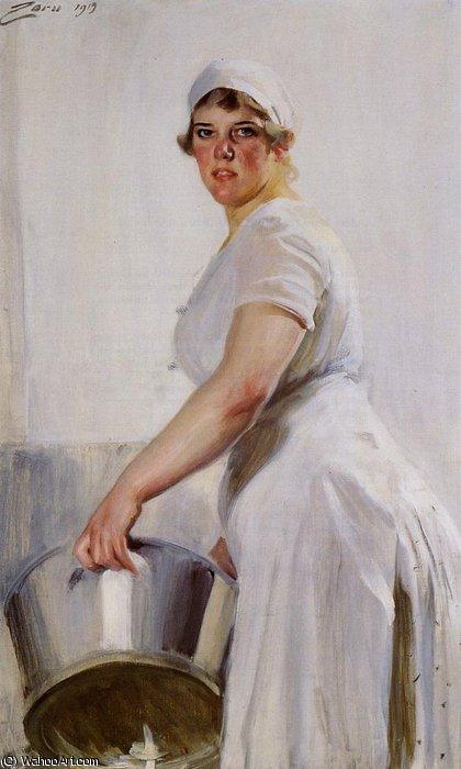 famous painting Kitchen maid of Anders Leonard Zorn