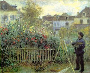 Claude Monet - Renoir painting in his garden