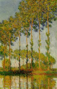 Claude Monet - Poplars along the River Epte, Autumn [1891]
