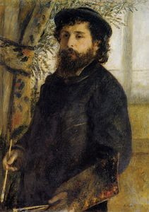 Pierre-Auguste Renoir - Claude monet painting
