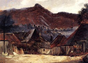 Théodore Rousseau (Pierre Etienne Théodore Rousseau) - Cottages in the Jura