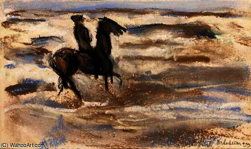 famous painting A rider on the beach of Max Liebermann