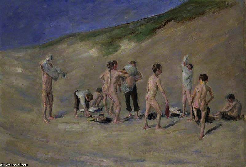 famous painting After bathing of Max Liebermann