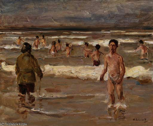 famous painting BATHING Knaben IM MORE of Max Liebermann