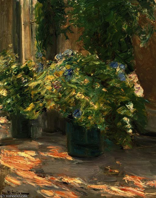 famous painting Flower pots in the house of Max Liebermann