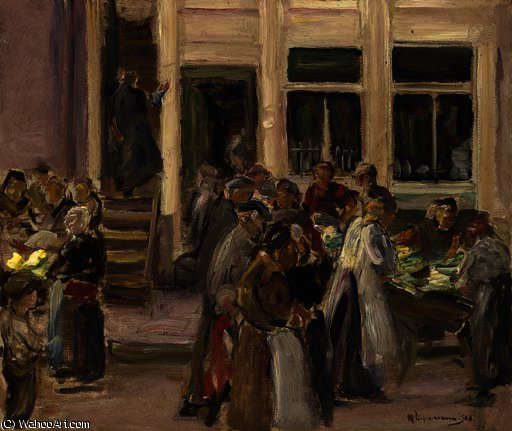 famous painting Judengasse in amsterdam of Max Liebermann