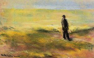 Max Liebermann - Lonely man on a dune