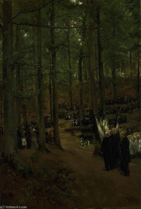 famous painting Memorial Service for Emperor Frederick at Kösen of Max Liebermann
