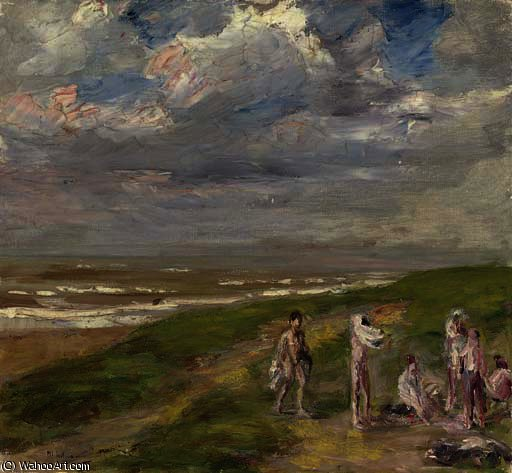 famous painting Nach dem bade of Max Liebermann