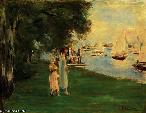 famous painting Stroller when at lakeside of Max Liebermann