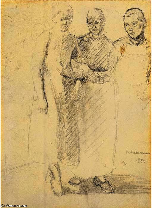 famous painting Three women of Max Liebermann