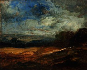 William James Muller - Sketch for a Landscape