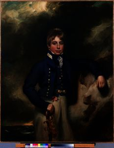 George Henry Harlow - Three-quarter length portrait of John Windham