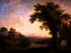Jacob Philippe Hackert - Antique Landscape with Phaeton's Tomb