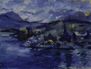 Lovis Corinth (Franz Heinrich Louis) - Lake Lucerne in the afternoon