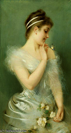 famous painting The butterfly of Albert Ernest Carrier Belleuse