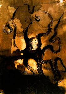 Victor Marie Hugo - Octopus with the initials V.H