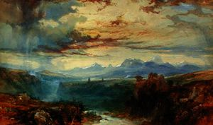 James Baker Pyne - An swiss alpine landscape