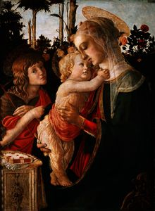 Sandro Botticelli - Virgin and Child with Young Saint John the Baptist