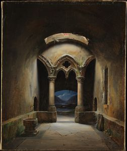 Charles Marie Bouton - Gothic chapel