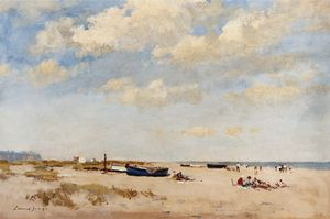 Edward Seago - On the Beach of Great Yarmouth