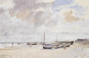 Edward Seago - The Beach at Kessingland