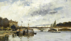 Edward Seago - The Bridge at Mantes