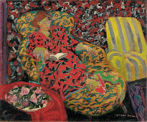 Emilio Grau Sala - Woman on Sofa, (1950)