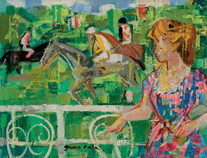 Emilio Grau Sala - Young Girl by the Paddock, (1961)