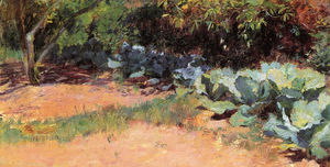 Guy Rose - The cabbage patch, (1891)