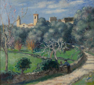 Albert André - Landscape, the Church at Cannet, (1902)