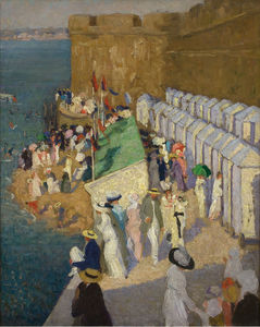 Ethel Carrick Fox - High Tide at St. Malo, (1912)