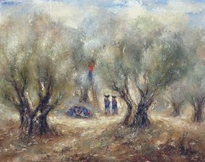 Reuven Rubin - Picking the Olives, (1950)