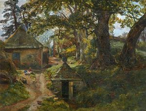 Alexander Fraser - At barncluith, sketch from nature
