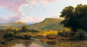 Edward Henry Holder - Scene on the River Conwy, Betws-y-Coed