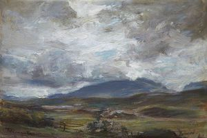 James Lawton Wingate - A Grey Day on the Hills