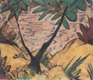 Otto Mueller - Landscape with forked tree