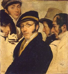 Pelagio Palagi - Self-portrait in a group of friends