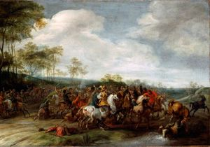 Pieter Snayers - Cavalry skirmish