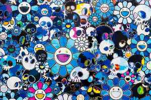 Takashi Murakami - Flowers and skulls