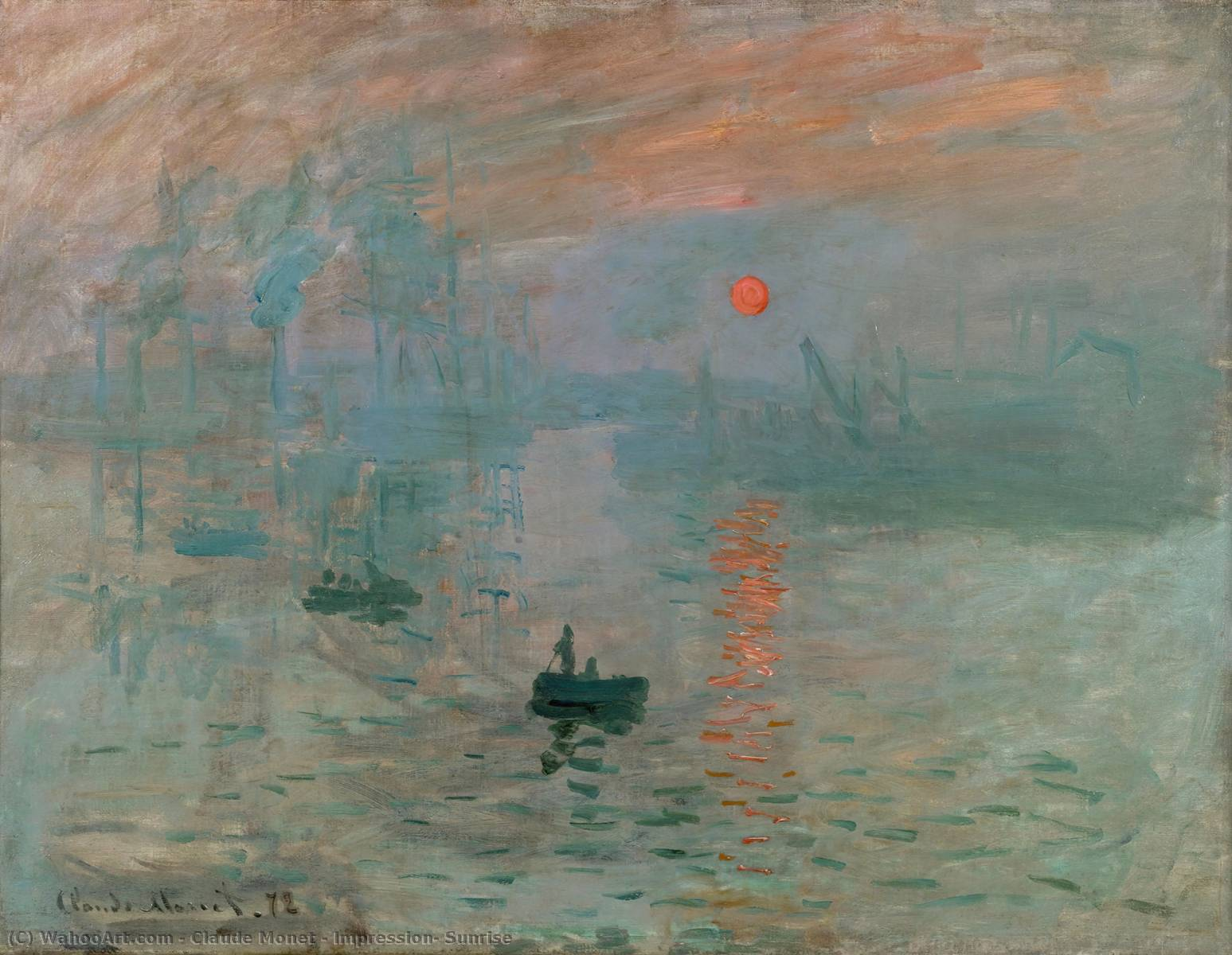 famous painting Impression, Sunrise of Claude Monet