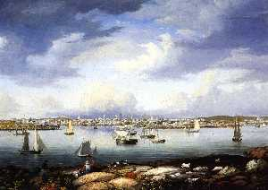 Fitz Hugh Lane - Gloucester from Rocky Neck