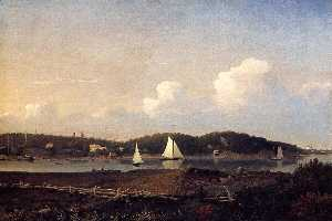 Fitz Hugh Lane - Fresh Water Cove from Dolliver's Neck, Glouster