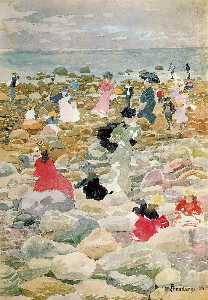Maurice Brazil Prendergast - Low Tide, Nantucket