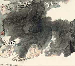 Zhang Daqian - MOUNTAIN WATERFALLS