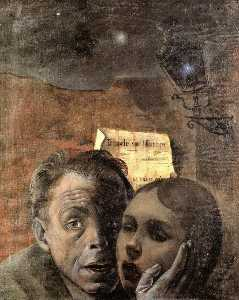 Felix Nussbaum - Fear (also known as Self Portrait with His Niece Marianna)