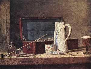 Jean-Baptiste Simeon Chardin - Still Life with Pipe an Jug