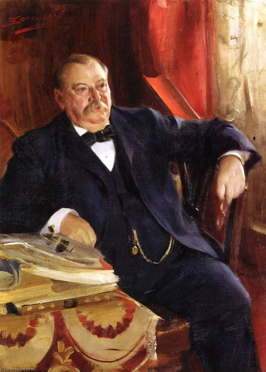 famous painting Grover Cleveland of Anders Leonard Zorn