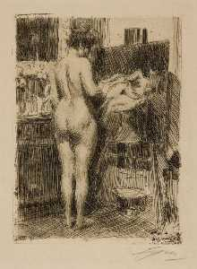 Anders Leonard Zorn - Model before Picture