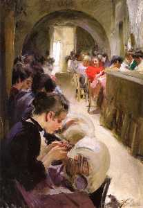 Anders Leonard Zorn - The Lace Makers